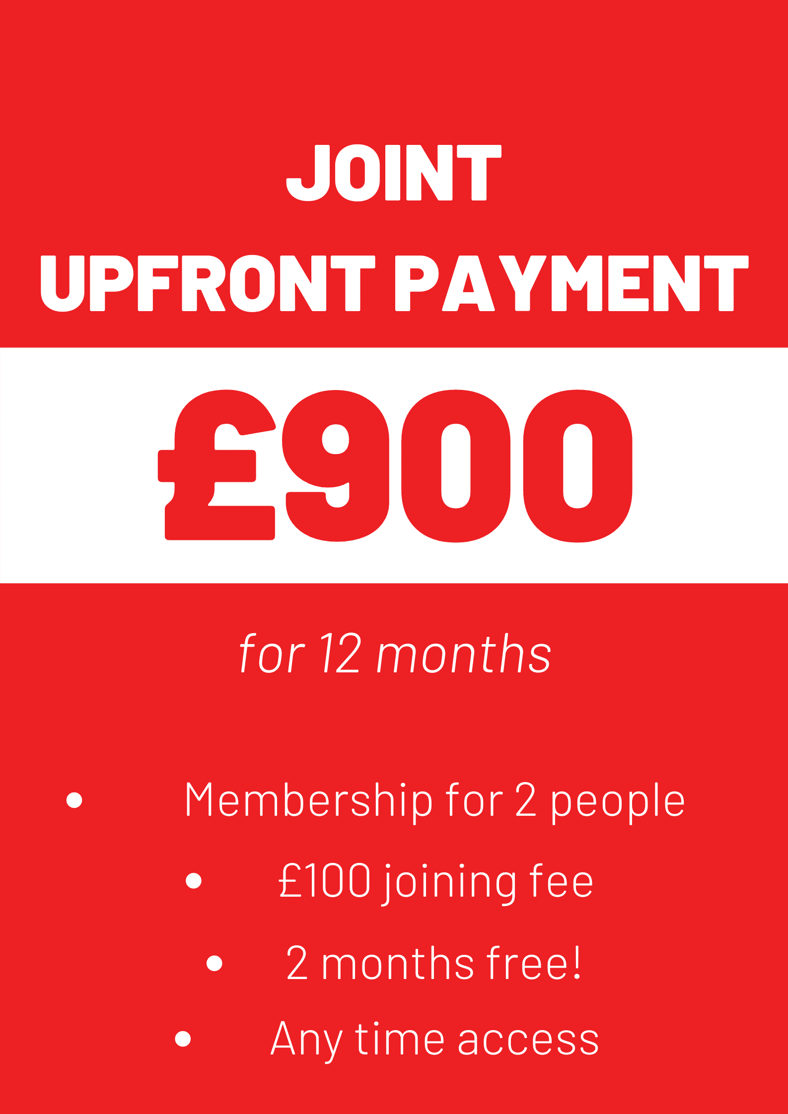 Joint Upfront Payment